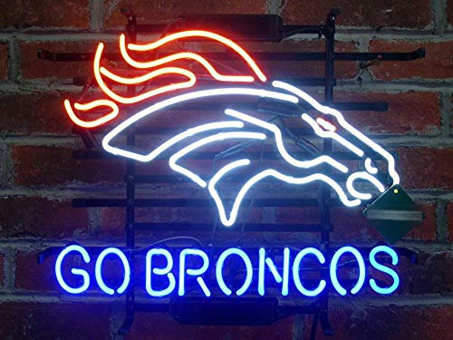 "Desung New 20""x16"" Denver Sports Team Go Bronco Neon Sign (Multiple Sizes Available) Man Cave Bar Pub Beer Handmade Neon Light FX72"