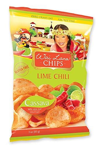 Wai Lana Cassava Chips | Gluten-Free, Vegan, 3 Ounce (Pack of 12) (Lime Chili)