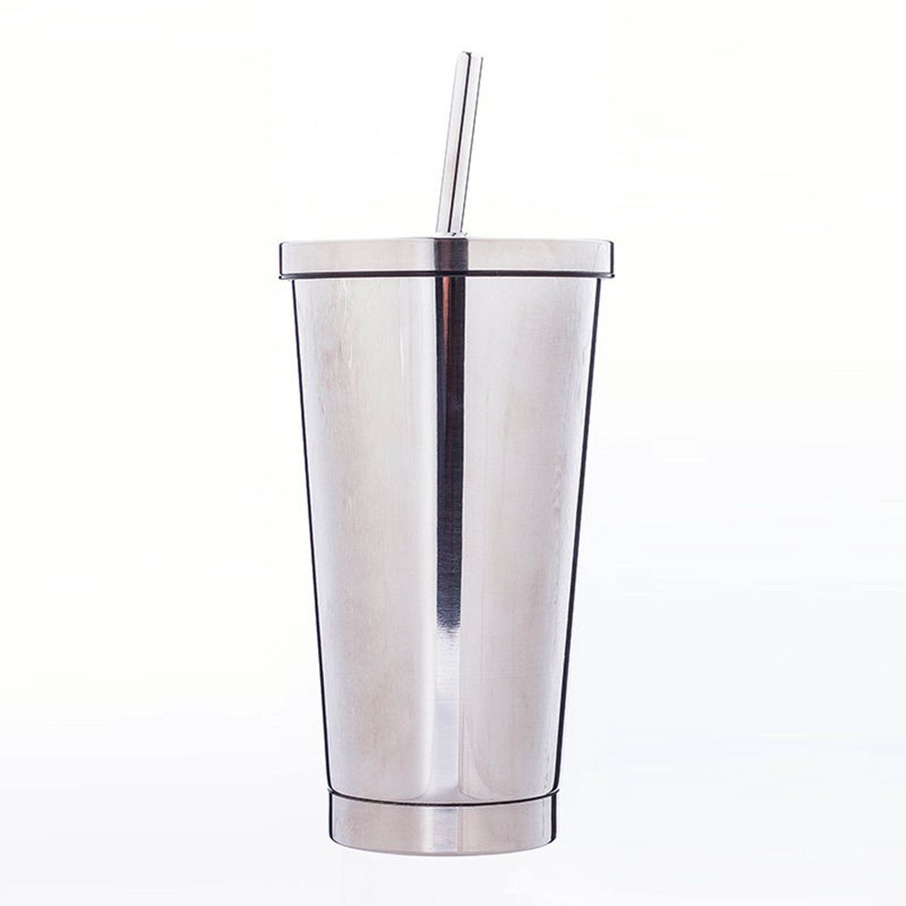 Hot and cold drinks.Double vacuum insulation -18 ounces.Stainless steel cup (siver)