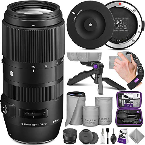 Sigma 100-400mm f/5-6.3 DG OS HSM Contemporary Lens for Nikon F + Sigma USB Dock with Altura Photo Essential Accessory Bundle