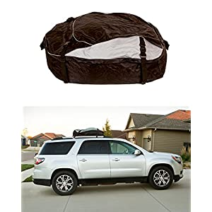 ABN Vehicle Roof Cargo Carrier Roof Bag – Extra-Large XL 12' Cubic Feet Car Rooftop Cargo Carrier Travel Luggage Bag