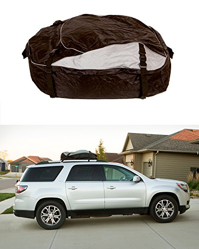 - ABN Vehicle Roof Cargo Carrier Roof Bag - Extra-Large XL 12' Cubic Feet Car Rooftop Cargo Carrier Travel Luggage Bag