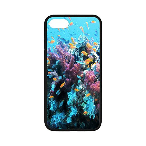 iPhone 7 Case, iPhone 8 Case,Perfect Fit Lightweight Anti Scratch Non Slip Soft TPU Protection for Apple iPhone 7/8- Coral Reef Saltwater Fantasy Fantasia Salt