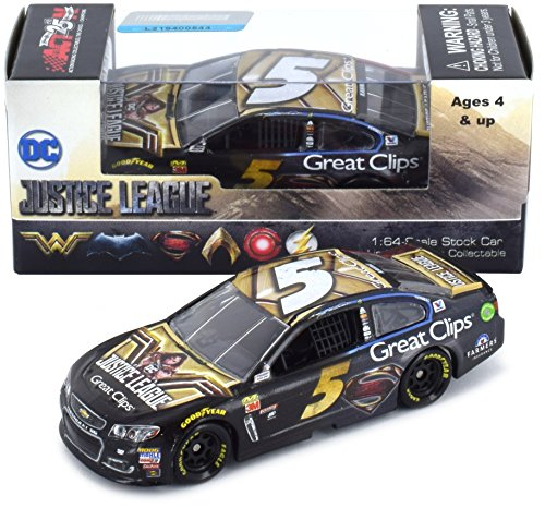 Lionel Racing Kasey Kahne 2017 Justice League Great Clips NASCAR Diecast 1:64 Scale -