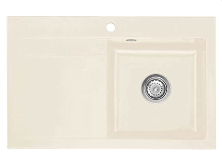 Systemceram Stema 80 Magnolia Ceramic Sink Handle Cream Gloss