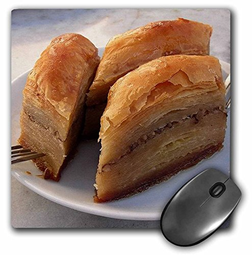 Baklava Desserts - 3dRose LLC 8 x 8 x 0.25 Inches Food Puddings and Desserts Baklava Mouse Pad (mp_21337_1)