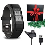 Gift Package: Garmin Golf GPS Watch Approach X40, Black/Gray Band + 1 USB Charging/Data Cable