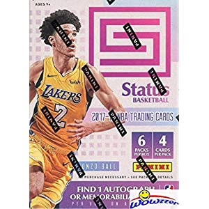 2017/18 Panini Status NBA Basketball EXCLUSIVE Factory Sealed Retail Box with AUTOGRAPH or MEMORABILIA & ORANGE PARALLELS! Look for RCs & AUTOGRAPHS of Donovan Mitchell, Jayson Tatum & More! WOWZZER!
