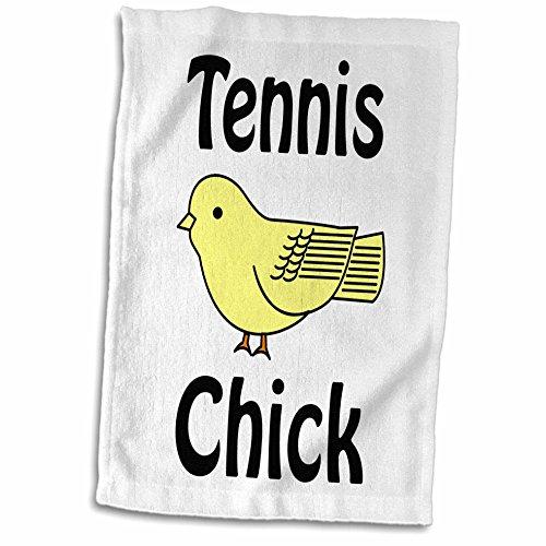 3D Rose Tennis Chick Hand/Sports Towel, 15 x 22