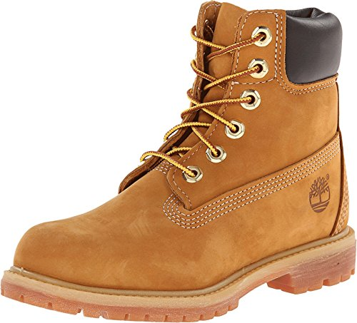 "Timberland Women's 6"" Premium Boot Wheat Nubuck 8 D - Wide"