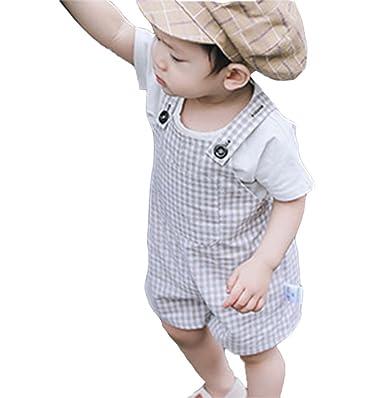 Hellomiko Baby Boy Girl Overall Jeans Kind Harem Lose Haken Hosen