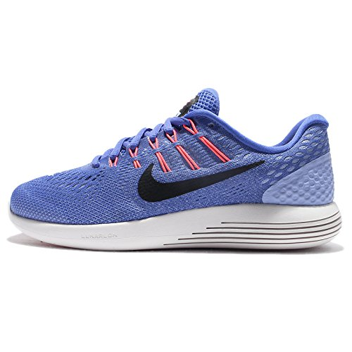 Nike Women's Lunarglide 8 Running Shoe (9.5 B(M) US, Medium Blue/Black Aluminum)