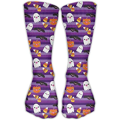 Girl's Ladies Tube Stockings Halloween Cat and Ghost Wallpaper & Men Soccer Comfortable Warm Over The Knee Running -