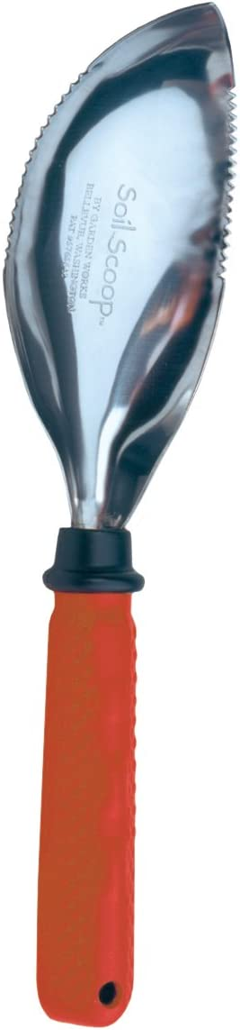 Garden Works SSR Comfort Grip Soil Scoop, Red