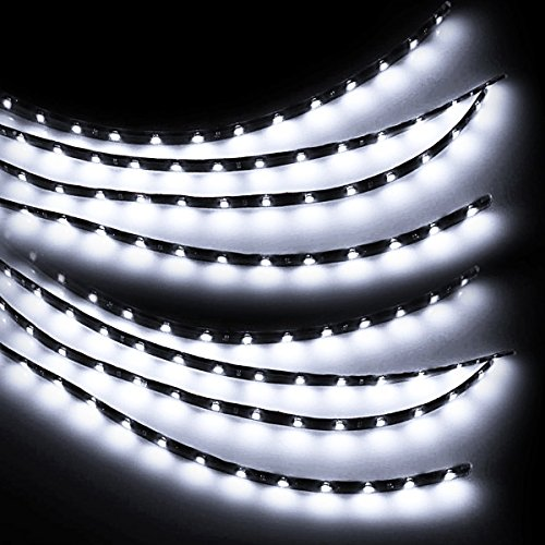 Zento Deals 8 Packs of Trimmable 30cm White LED Car Flexible Waterproof Light - Watch Online Of Shades Ray