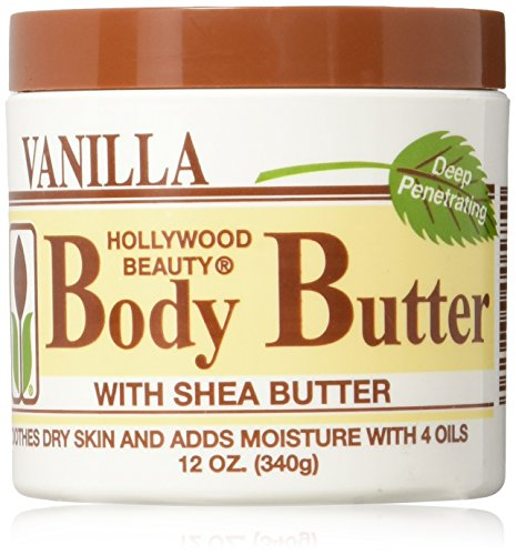 Hollywood Beauty Body Butter with Shea Butter and Vitamin E, 12 Ounce