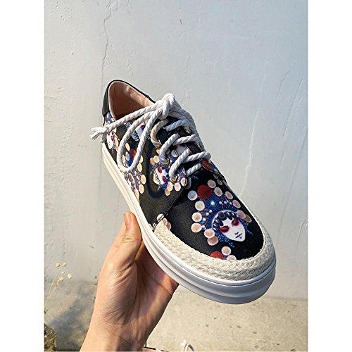 Procédé Chaussure Femme Plateformes Sneakers Femme Style Baskets Tricotage Chaussures de Sport de black WSXY A1708 Opéra Gym KJJDE de à WvXW5qTP