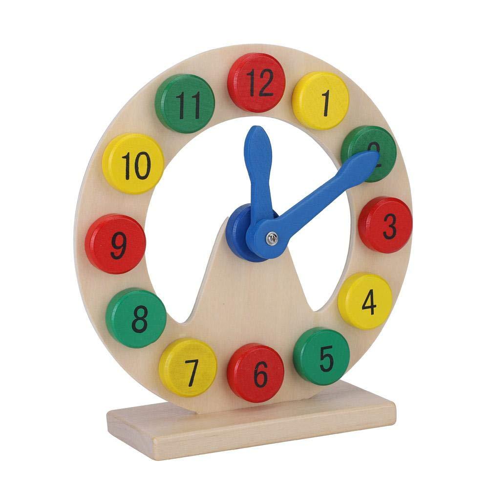 Digitaluhr Hohl Uhr Holzspielzeug Anzahl Zeit Fr/ühes Lernen Geschenk f/ür kleine Baby Jungen M/ädchen Kinder Holzuhr Spielzeug