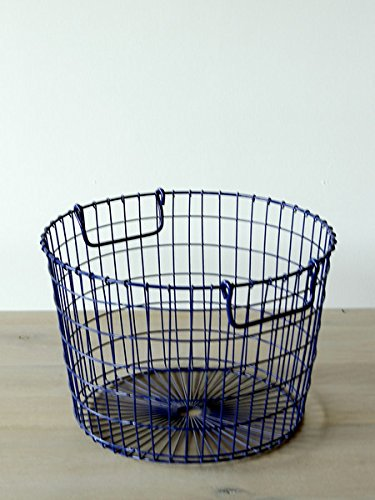 Wire Potato Basket (Peacock Blue)