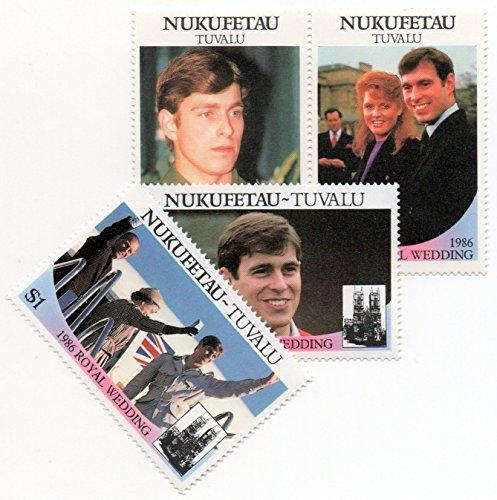 Nukufetau Tuvalu 1986 Postage Stamp Set Royal Wedding Issue Prince Andrew & Sarah Ferguson MNH Scott #58-59 ()
