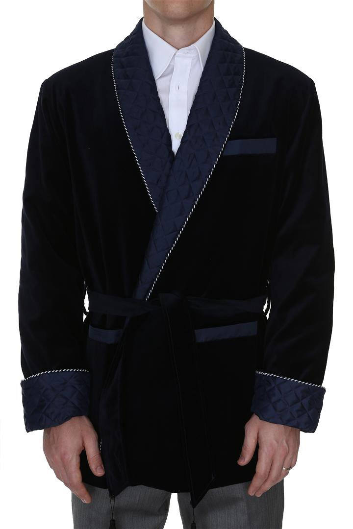 Men's Smoking Jacket Bartholomew Navy Medium by Duke & Digham