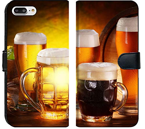 (Apple iPhone 8 Plus Flip Fabric Wallet Case Image ID: 10613139 Still Life with a keg of Beer and Draft Beer by The Glass)
