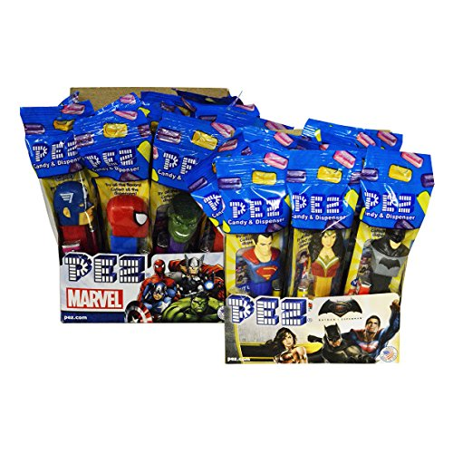 (PEZ Marvel Assortment + DC Comics Pez)