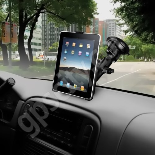 Ram Mount Suction Cup Base Car Windshield Mount for Apple iPad (RAM-B-166-AP8U)