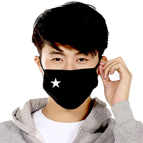 (Polytree Unisex Printed Cute Cotton Face Mask Anti-Dust Mouth-Muffle (one size, Style 5))