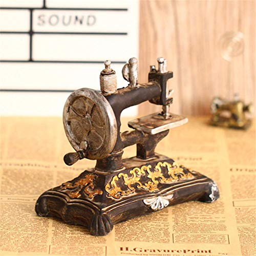 Tailoring Machine Model, Vintage Sewing Machine Glass Blown Ornaments, 6.89''4.53''7.68'', for Clothing Store Decoration ()