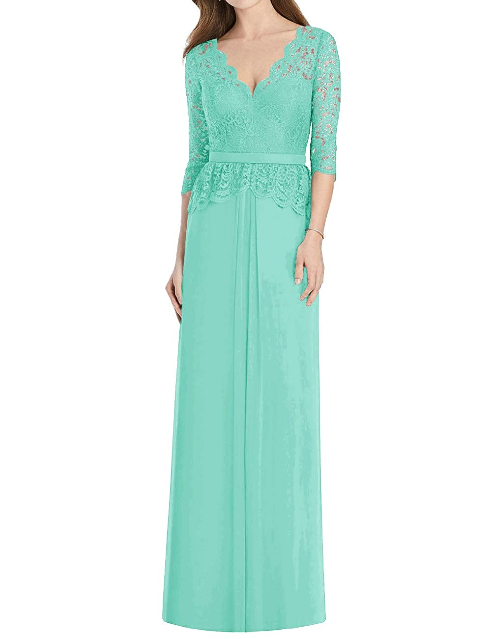 Mother of The Bride Dress Long Chiffon Lace Formal Evening Wedding Prom Dresses