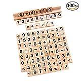 100 number tiles - TMO 100 Scrabble Tiles Wooden Scrabble Number Number and Symbol Scrabble Tiles Games Scrabbles Number Tiles Games with 1 Tiles Rack