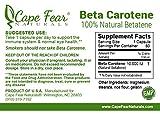 Cape Fear Naturals Beta Carotene 10000 IU 60 capsules Discount