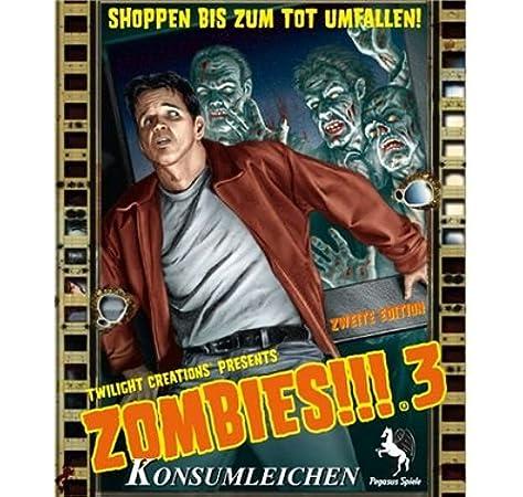 Pegasus Spiele 54120G Zombies!!! 3 - Juego de Mesa de Zombis (versión en alemán): Amazon.es: Juguetes y juegos