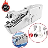 Awekris Handy Stitch, Mini Hand Sewing Machine Portable Handheld Stitch Cordless Battery Powered for Home Travel