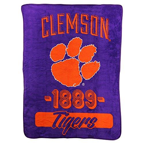 The Northwest Company NCAA Collegiate Varsity Super Soft Plush Throw Blanket (Clemson Tigers) ()