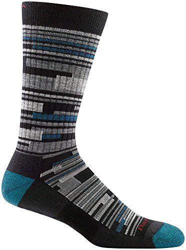 Darn Tough Urban Block Light Cushion Sock - Mens Black Large