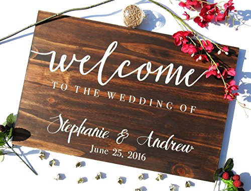 Wood Wedding Sign, Wood Reception Sign, Rustic Wedding Sign, Welcome Wedding Sign, Custom Wedding Sign, Custom Wood Sign, Pallet Wood Sign .sign#132 by Bravood Wood Design
