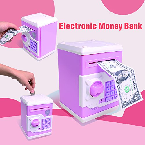 free shipping Electronic Password Piggy Bank for Kids Girls Boys