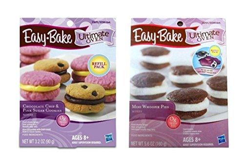 Mini Chocolate Brownies (Easy Bake Cookie Oven Refill Pack (Mini Whoopie Pies, Chocolate Chip & Pink Sugar Cookies,) - 2 ct)