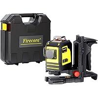 Firecore F93TR 3D Laser Rouge Niveau Système de nivellement automatique 360°horizontale et verticale Laser en croix