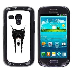 eJoy Cubierta de la caja de protección la piel dura para el/Samsung Galaxy S3 MINI 8190/-Fantasía Sueño Dreamcatcher cuernos Chica
