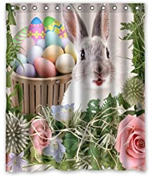 Luxury Gifts Easter rabbit egg shower curtain
