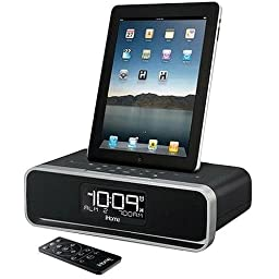 iHome iD91BZC 30-Pin Clock Radio Speaker Dock with Dual Alarm FM Clock Radio for iPad/iPhone/iPod (30-Pin, Not Compatible w/ iPhone 5/6 or any Lightning Compatible Models)