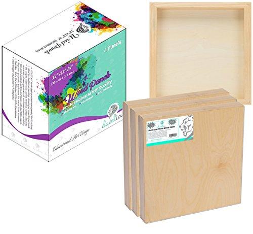 9 x 12 inches 4-Pack Wood Panel Darice TCDRCWP9X12 Studio 71 Cradle Board