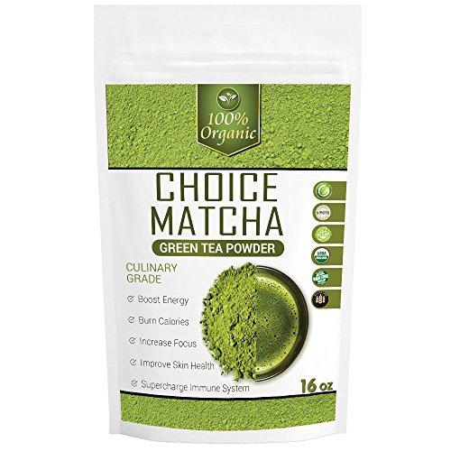 Choice Matcha (16oz) - USDA Organic - High Culinary Grade - Perfect for Starters - Great Savings