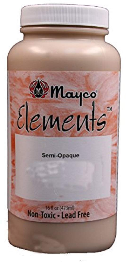 Mayco EL122 Elements Non-Toxic Glaze, 1 pint Bottle, 2.8'' Height, 2.8'' Width, 6'' Length, Malachite Green