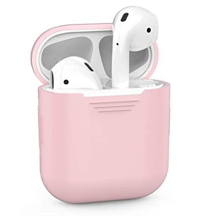 purchase cheap 1959c a02f5 ZALU Compatible for AirPods Case Protective Silicone Cover and Skin for  AirPods Charging Case (Pink)