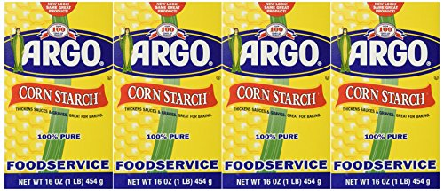 Argo Corn Starch 16 oz. Box (Pack of 4) (Vanilla Cornstarch Pudding)