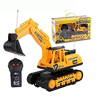 Leoneva Car Excavator Kids Toy Crawler Digger Electric 2 Channel Remote Control Activity Play Centers : Baby